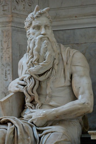 photo image of statue of Moses by Michelangelo  in San Pietro in Vincoli