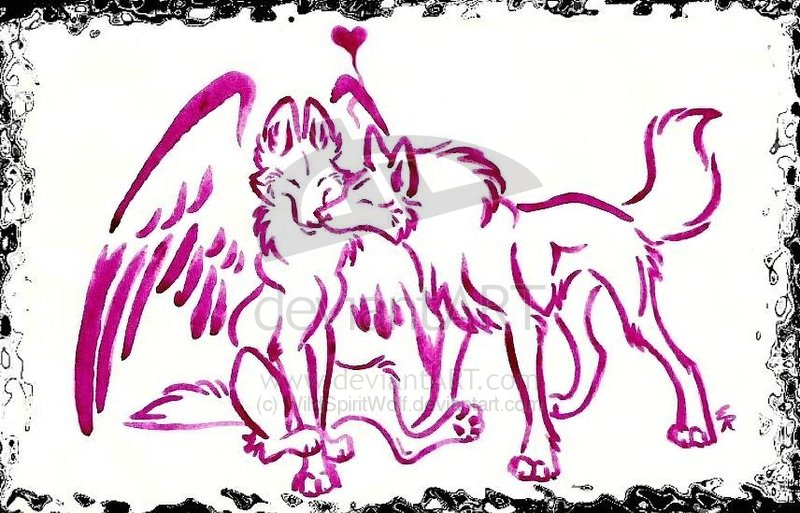pics of wolves with wings