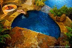 IMG_1820 - Autumn Sunset (jguild13) Tags: woman color art water pool garden fun outdoors fire play earth lifestyle leisure recreation comfort spa luxury pleasure indulgence rockstone waterfalls