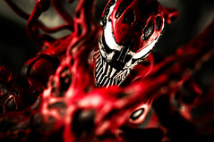 Maximum Carnage (pairadocs) Tags: red toy actionfigure book mod comic action attack spiderman evil comicbook figure carnage psychopath custom marvel villain psychotic symbiotic modded symbiote pairadocs cletuskasady pairadocsdesignlab