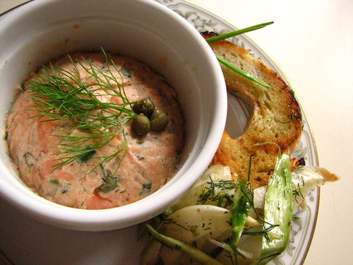 Smoked Salmon Rillette with Fennel Salad