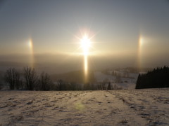 Morning Sun Halo - Sun Dogs / Annaberg, 860m (CzechR) Tags: morning sun ice dogs crystals halo parhelion sundog parhelia sunpillar sundogs mywinners sunpillars
