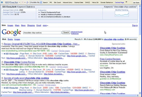 SEMToolBar annotates search results