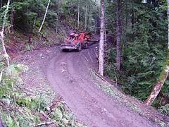 Groundbased Harvesting (Dru!) Tags: road wood trees canada work bc forestry timber britishcolumbia logging trail skid skidding skidder skidroad yarding groundbased