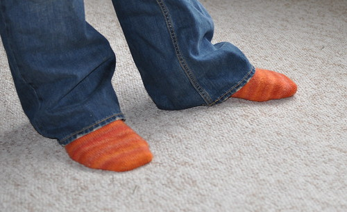 HWJF's Orange Trekking Socks.