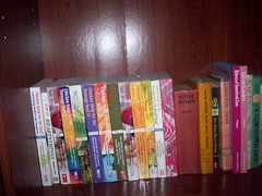 New Bookshelf. (Castiel Winchester) Tags: travel fern chicken robert garden dark soup for women jane rebecca little random kate farm secret may patrick books hills have helen will soul douglas frances adopted louisa spacesuit carman divide burnett hodgson the alcott sunnybrook heinlein wiggin a daringer