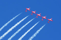 Canadian Snowbirds (Forest Wang) Tags: sky ontario canada june expo aviation kitchener 200iso airshow waterloo planes snowbirds 2010 f63 breslau kitchenerwaterloo 210mm canadiansnowbirds 423pm june2010 11000secatf63 sonydslra230 mygearandmepremium mygearandmebronze mygearandmesilver mygearandmegold mygearandmeplatinum fathersday2010