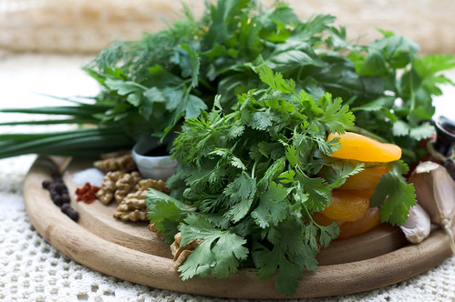 Ingredients for Georgian Cilantro Sauce
