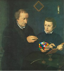 Portrait of Johannes Neudörfer, His Son, and Their Rubik's Cube, after Nicolas Neufchâtel (Mike Licht, NotionsCapital.com) Tags: art portraits painting geometry humor mathematics puzzles anachronism rubikscube mathematicians neufchâtel neufchatel lucidel mikelicht notionscapitalcom portraitofjohannesneudörferandhisson nicolasneufchatel nicolasneufchâtel johannneudörffer johannneudörfertheelder nicholaslucidel nicholasvannieucasteel