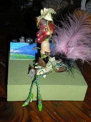 Mz FloCat (MzDIS) Tags: original sculpture abstract art feet altered wow fun happy bay beads friend shoes folkart outsiderart waterfront artistic recycled outsider assemblage unique oneofakind painted small creative feathers dream smiles attitude creation clay handpainted myart colored eccentric custom creatures imaginary playful houseboats artisan acrylics whimsical offbeat richardsonbay artoutloud unconventional smallart waldopoint picturesworthathousandwords one~of~a~kind small3dart folkandoutsiderart smallartcreatures
