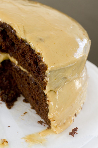 Devil's Food Cake with Fresh Peanut Butter Frosting 9