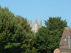 cathedral through trees (Dissonancefalling) Tags: trees england buildings kent fuji cathedral canterbury s3000