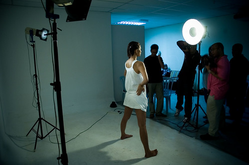 behind the scene at Ted Adnan;s Basic Studio Lighting workshop