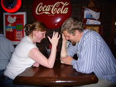 very serious arm wrestling interlude