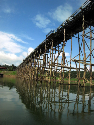A different view of the Mon wooden bridge