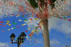 Festas Juninas (Boarin) Tags: azul céu festas junina iluminação bandeirolas