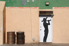 (shadowplay) Tags: california wall mojave boron mexicanrestaurant