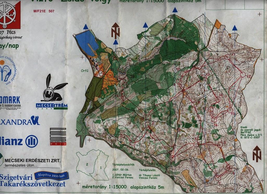 Hungária Kupa 5. nap - Térkép