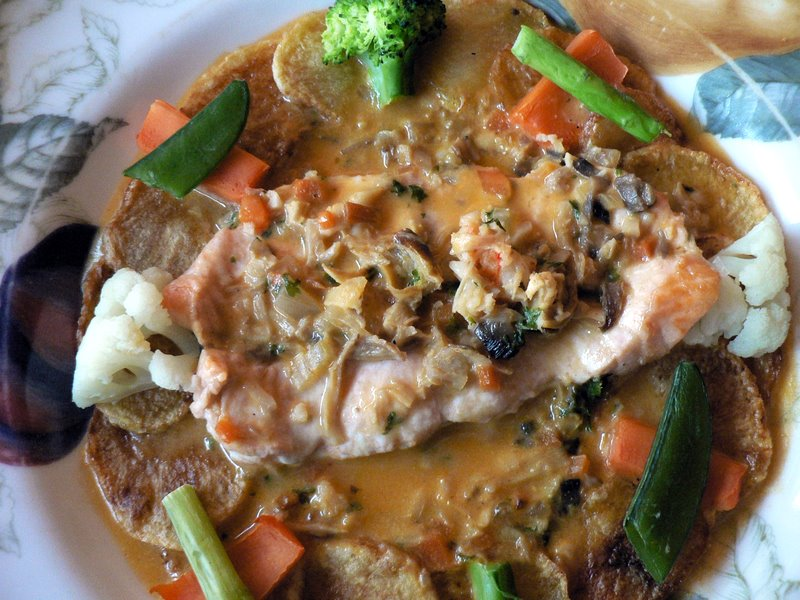 salmon au gratin