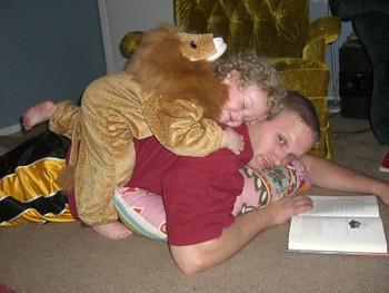 Lion hug.