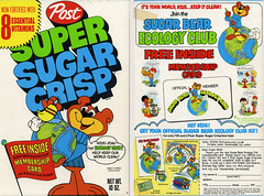 Super Sugar Crisp cereal box