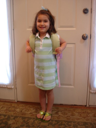Corinne is ready for school!