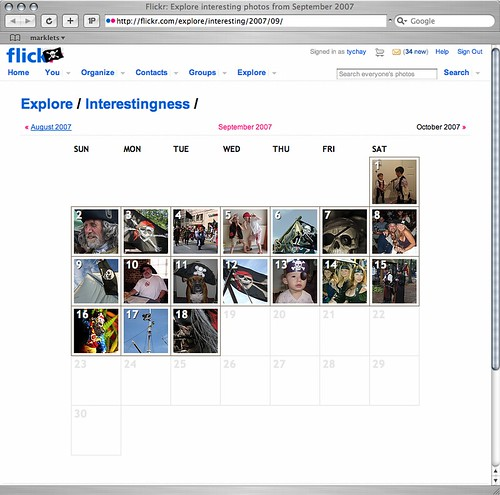 Pirates have taken over Flickr explore