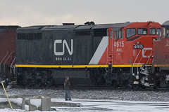 BCOL 4615 CN Paint (BCR4619) Tags: cn port bc bank rail delta roberts 105 4615 c408m