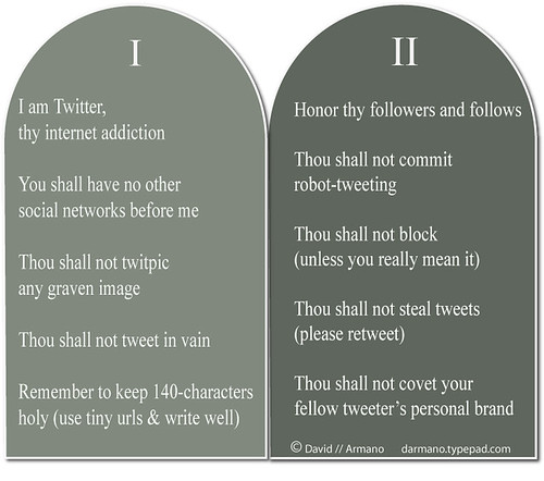 Twitter's 10 Commandments