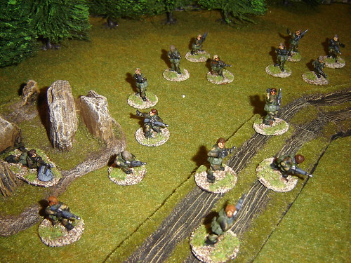 Troop advances