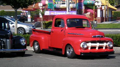 Red Ford Truck (Ari Lynn Day) Tags: show red classic ford truck vintage cool pickup f1 trucks 51 1951