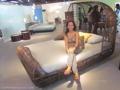 Brad Pitt's foyer bed