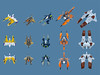 VV Fighters overview (Fredoichi) Tags: fighter lego space shooter shootemup starfighter gradius shmup vicviper novvember fredoichi nnovvember