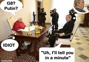 Pope Tortures Bush