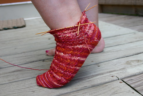 Solstice slip sock, side view