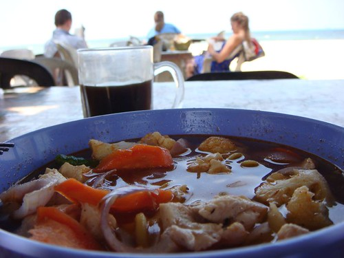 Lunch at Cherating Beach, Eastern Malaysia.