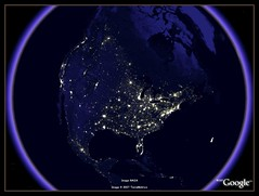 グーグルアースでNASA視点の夜景を堪能(Earth at Night NASA Layer By Google Earth)