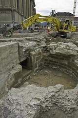 Ein letzter Blick auf die noch intakten Fundamente des Dittlingerturms