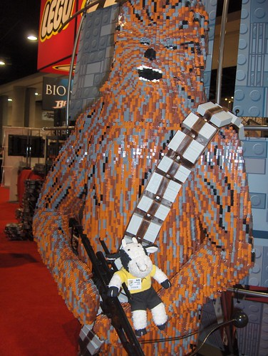 It's not wise to anger a Wookiee, even one made of Lego