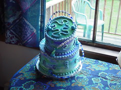 Tilted Tie Dye - Cool (Creative Cakes By Jesse) Tags: cakes cake dessert treats pastry topsyturvy designercake designercakes tiltedtier