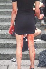 DSCF3552 (skonen_blades) Tags: art rotting flesh vancouver fun gallery zombie walk makeup august brains undead shuffle duncan flashmob 2007 hanka