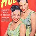 The Glamorous Brown Twins, Vivian and Hilda Brown - Hue Magazine, August, 1954