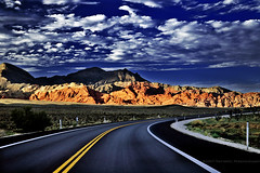 On the road (jpnuwat) Tags: redrockcanyon road trip sky usa mountain driving d70 lasvegas nevada hightway dsc1840 rrcnca
