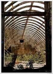 Puerta al infinito / Umbráculo (Carmen Cabrera .) Tags: grancanaria architecture arquitectura ruins factory canarias olympus ruinas e300 favs canaryislands zuiko fabrica poligonoindustrial telde zd 1445mm industrialstate