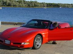 Bob steals kk's car (redvette) Tags: corvette rivervalleyvettes redvette tomhiltz