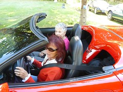 KK takes the birthday girl for a corvette drive (redvette) Tags: corvette rivervalleyvettes redvette tomhiltz