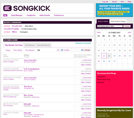 3164747177 bf13a74922 SongKick Review: Put A Concert In Your Pants