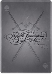 Typowall  Guilt of Everything (Vector Hugo) Tags: black illustration ink vintage typography graphicdesign oldstyle strokes gray symmetry retro ornaments card characters balance fleurdelis calligraphy swords ligatures aceofspades glyphs visualcommunication hapsis pointofdesign themischapsis themistoklis  theta75  themishapsis guiltofeverything vectorhugo