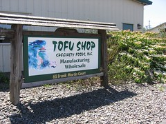 Tofu Shop sign