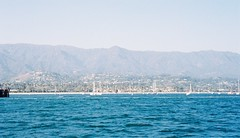 Santa Barbara and Santa Ynez Mountains from Sea (The Disillusioned One) Tags: santabarbara santaynez